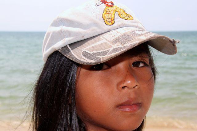 Zdjęcia: Otres Beach, Sihanaukville, Dziewczynka, KAMBODżA