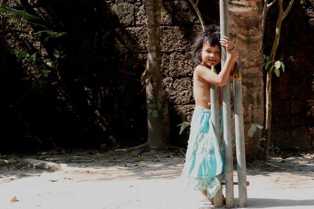 Zdjęcia: Angkor, Mała mieszkanka Angkoru, KAMBODżA
