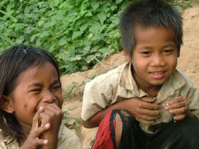 Zdjęcia: północ Kambodży, Dzieci, KAMBODżA