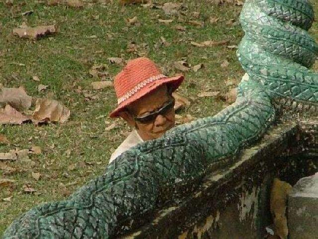 Zdjęcia: północ Kambodży, Mężczyzna, KAMBODżA