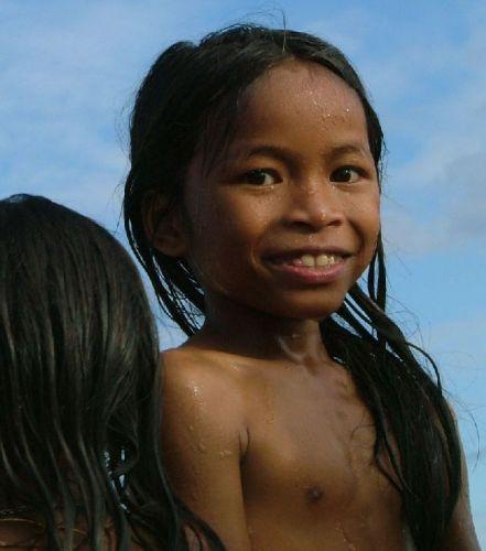 Zdjęcia: północ Kambodży, Dziewczynka, KAMBODżA