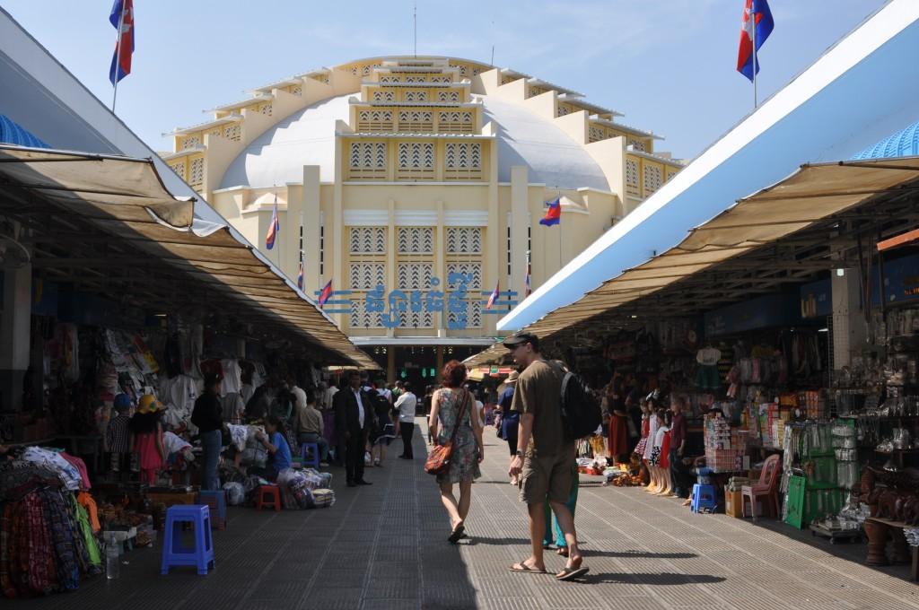 Zdjęcia: centrrum Phnom Penh, Phnom Penh, Psar Thmei czyli bazar centralny, KAMBODżA