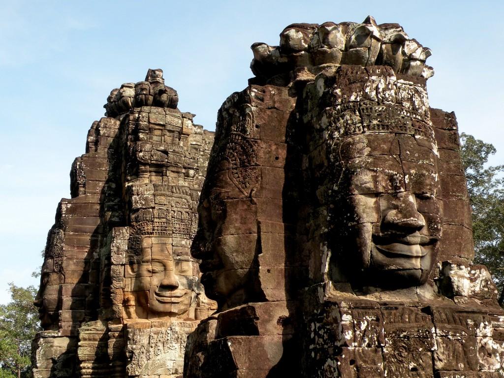 Zdjęcia: świątynia Bayon, Angkor, Kamienne twarze, KAMBODżA