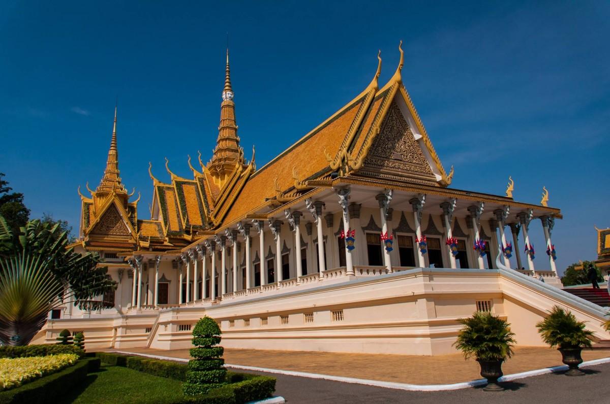 Zdjęcia: Kompleks pałacowy, Phnom Penh, Pałac Królewski, KAMBODżA