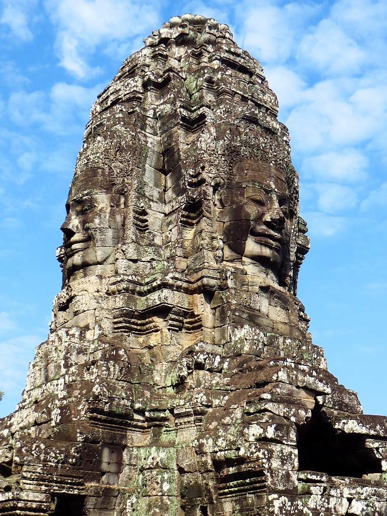 Zdjęcia: Angkor Thom, Angkor, świątynia Bajon - kamienne twarze, KAMBODżA