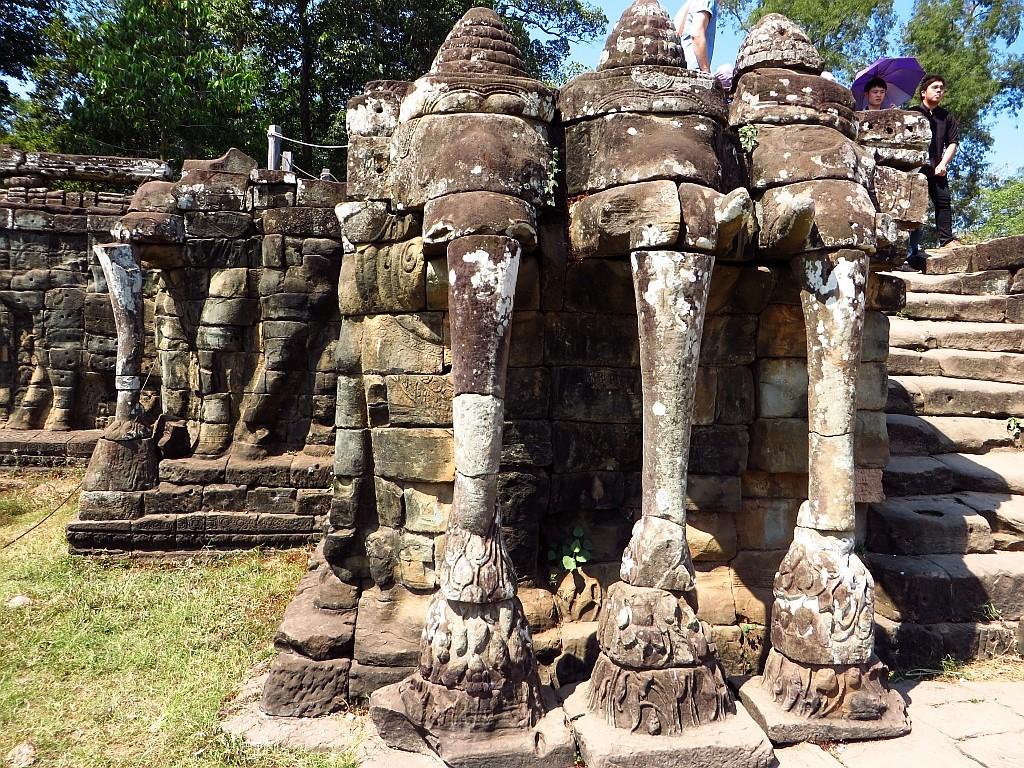 Zdjęcia: Angkor Thom, Angkor, Taras Słoni, KAMBODżA