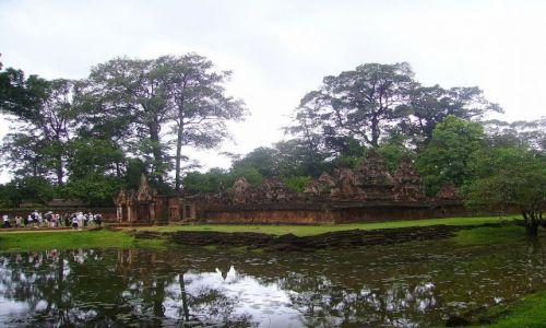 Zdjęcie KAMBODżA / okolice Siem Reap / świątynia Banteay Srei / widok na Banteay Srei- zwaną Cytadelą Kobiet