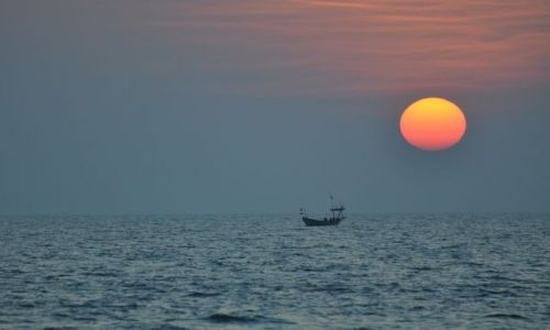 Zdjecie KAMBODżA / Sihanoukville / Oster Beach / Schyłek dnia