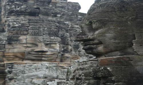 Zdjęcie KAMBODżA / Siem Reap / Bayon Temple / Twarze