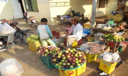 KAMBODżA / - / Delta Mekongu  Targ / Kambodża