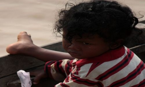 Zdjecie KAMBODżA / Siem Riep / wioska na wodzie / konkurs kambodżańskie dzieciństwo