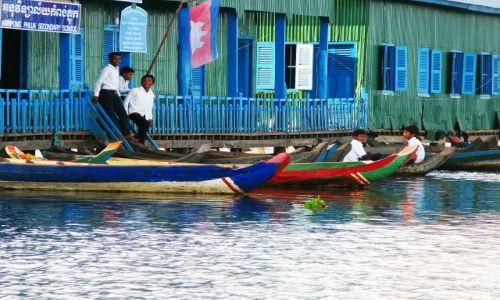 Zdjecie KAMBODżA / Phnom Kulen / Kompon Phlug / Szkoła