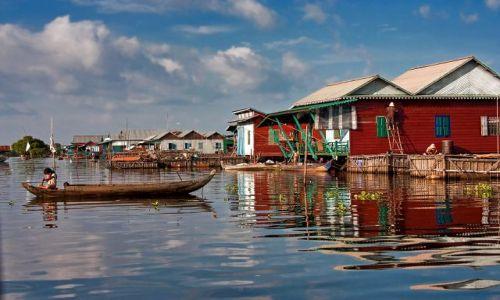 Zdjecie KAMBODżA / - / Kompong Phluk / życie na wodzie