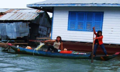 Zdjecie KAMBODżA / Siem Reap / Jezioro Tonle Sap / Plywająca wioska rybacka