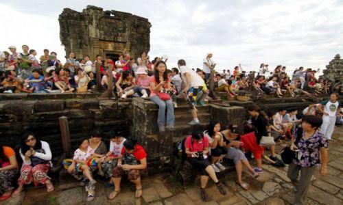Zdjecie KAMBODżA / Kambodza / Siem Reap / Zachód w Angkorze