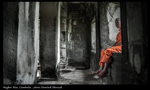 Zdjecie KAMBODżA / Angkor / Angkor Wat / MNICH