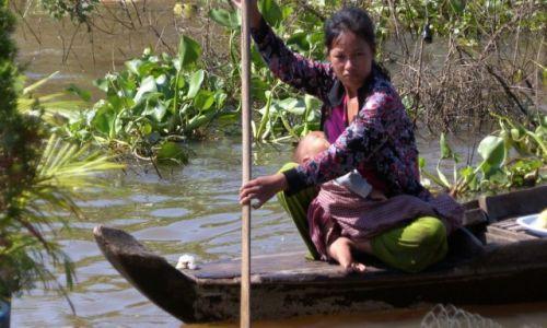 Zdjecie KAMBODżA / - / jezioro Siem Reap / Siem Reap