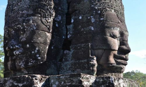 Zdjecie KAMBODżA / okolice Siem Reap / Angkor / W świątyni Bajon