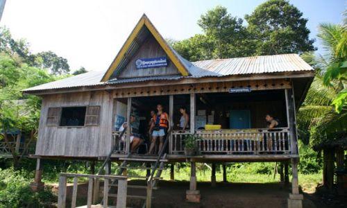 Zdjecie KAMBODżA / brak / mekong river / budka graniczna na Mekongu (kambodza-laos)