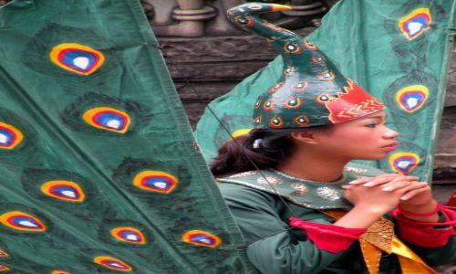 Zdjęcie KAMBODżA / Siem Reap / Angkor Wat / Dziewczyna paw