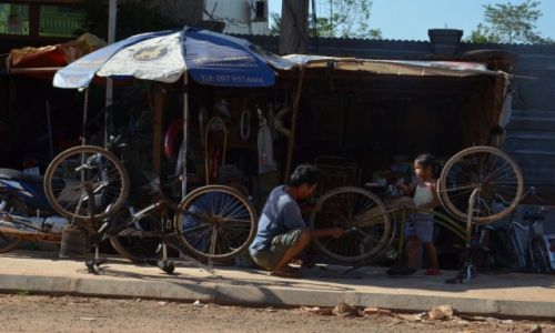 Zdjęcie KAMBODżA / - / Kambodża / serwis rowerowy