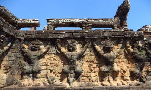 Zdjęcie KAMBODżA / Angkor / Angkor Thom / Taras Słoni