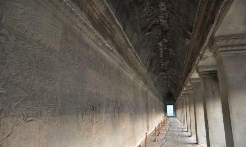 Zdjecie KAMBODżA / Ankor / Ankor Wat / korytarz