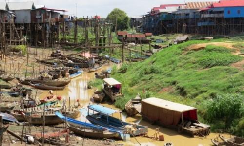 KAMBODżA / Jezioro Tonle Sap / Kampong Phluk /