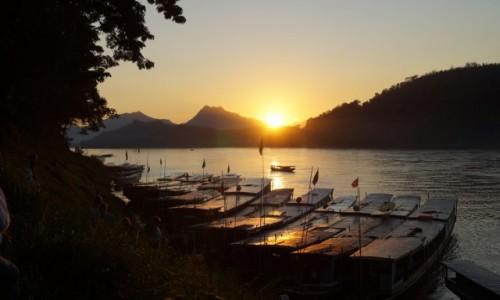 Zdjecie KAMBODżA / Mekong / Mekong / Zachód słońca n