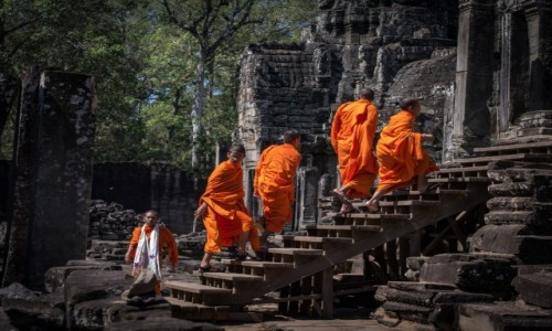 Zdjecie KAMBODżA / Siem  Reap / Angkor wat / Dążyć do celu