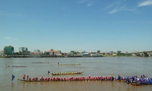 Zdjecie KAMBODżA / Phnom Penh / Phnom Penh Mekong River / Water Festival