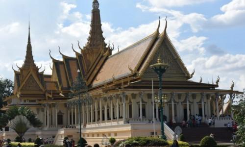 Zdjecie KAMBODżA / - / Phnom Penh /  Pałac Królewski, Phnom Penh, Kambodża