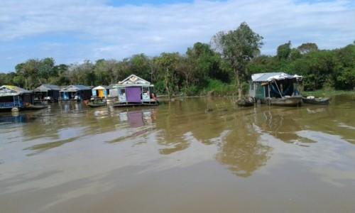 Zdjecie KAMBODżA / - / Siem Reap  / Pływające wioski na jeziorzeTonle Sap