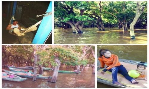 Zdjecie KAMBODżA / Kampong Phluk. / Kampong Phluk. / Życie na rzece