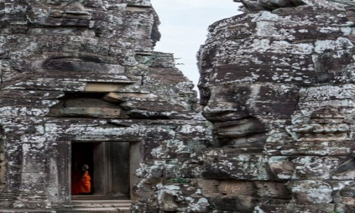 Zdjecie KAMBODżA / Angkor Wat / Bayon / Mnich