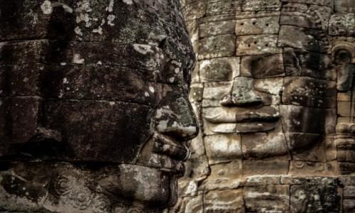 Zdjęcie KAMBODżA / Prowincja Siem Reap / Świątynia Bajon / Kamienna twarz ;-)