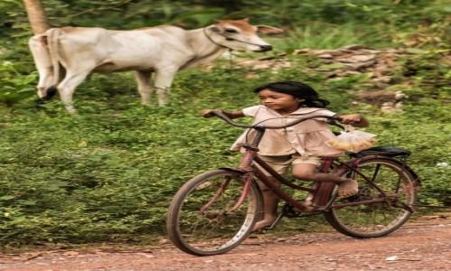 Zdjęcie KAMBODżA / Prowincja Siem Reap / Roluos / Kurier DHL-u
