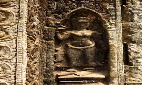 Zdjęcie KAMBODżA / Angkor / okolice Siem Reap / Świątynia Ta Prohm - detal
