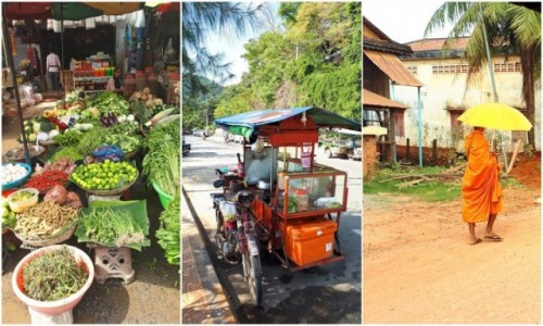 KAMBODżA / Kambodża / targ w Pursat/Kep/okolice Kampotu / Z życia codziennego w Kambodży