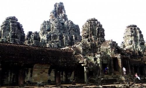 Zdjecie KAMBODżA / Angkor / Angkor Thom / świątynia Bajon - strona wschodnia