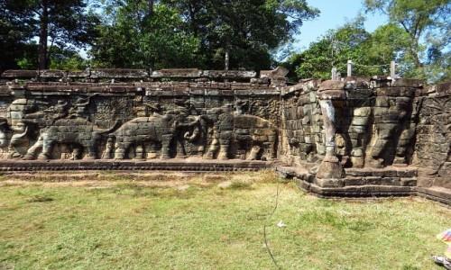 KAMBODżA / Angkor / Angkor Thom / Taras Słoni