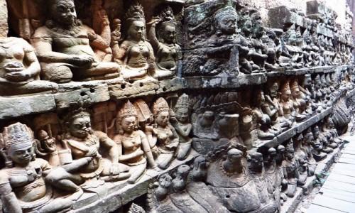 Zdjecie KAMBODżA / Angkor / Angkor Thom / taras Trędowatego Króla