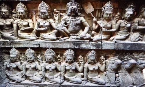 Zdjecie KAMBODżA / Angkor / okolice Siem Reap / taras Trędowatego Króla