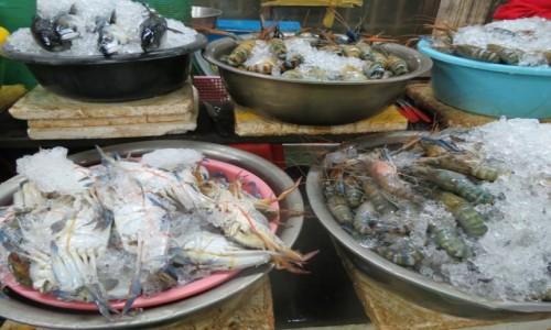 Zdjęcie KAMBODżA / Azja / Siem Reap /   Kambo bazar owoce morza