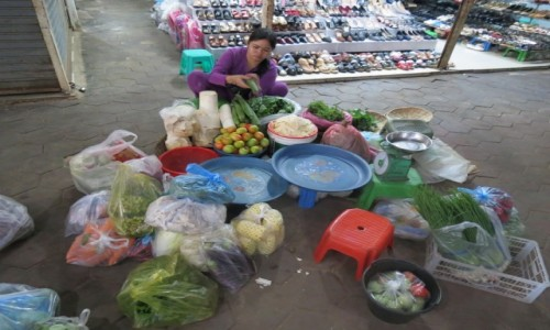 Zdjęcie KAMBODżA / Azja / Siem Reap /   Kambo bazar przygotowania