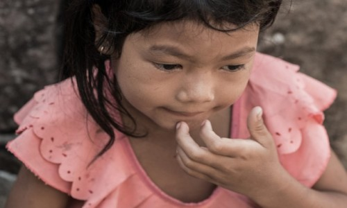Zdjęcie KAMBODżA / Prowincja Siem Reap / Świątynia Bajon / La vie en rose ;-)