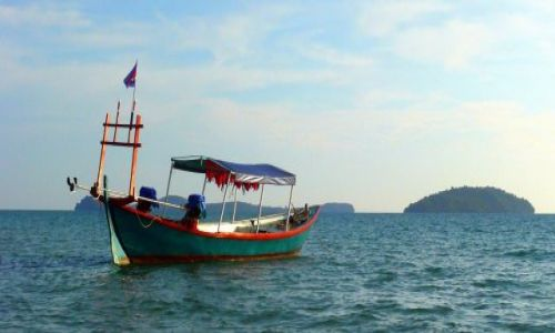 KAMBODżA / Otres Beach / Sihanoukville / Łódz Moniki i Kema