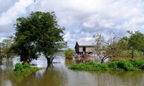 Zdjęcie KAMBODżA / Siam Reap / Tonle Sap / domek na peryferiach ;-)