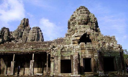 Zdjęcie KAMBODżA / Siem Reap / zespół Angkor Wat / wieże Bayonu