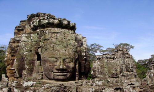 Zdjecie KAMBODżA / Siem Reap / swiatynia Bayon / tajemniczy usmiech jak u Mona Lisy